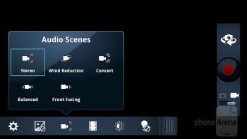 The Camera  interface of Motorola DROID RAZR - Motorola DROID RAZR vs HTC Rezound