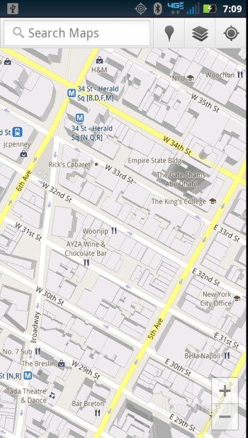 Maps - Preinstalled apps on the Motorola DROID RAZR - Motorola DROID RAZR vs Apple iPhone 4S