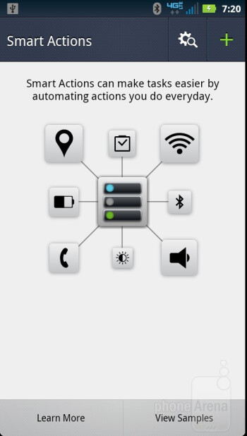 Smart Actions - Preinstalled apps on the Motorola DROID RAZR - Motorola DROID RAZR vs Apple iPhone 4S