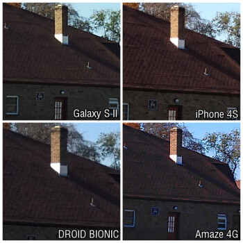 100% crop images - iPhone 4S vs Droid Bionic vs Galaxy S II vs Amaze 4G: camera comparison