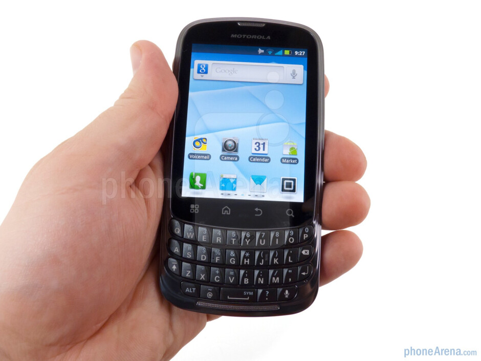 The Motorola Admiral fits comfortably in the hands - Motorola Admiral Review