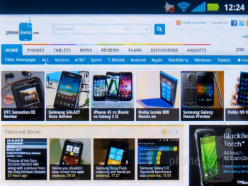 Motorola has opted for the stock Android browser with the Motorola Admiral - Motorola Admiral Review