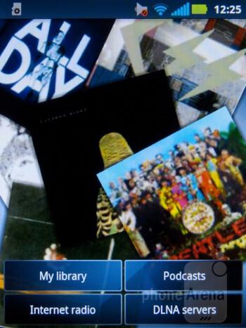 Music player - Motorola Admiral Review