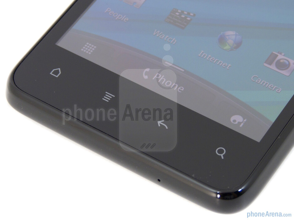 Android buttons below the screens - HTC Vivid Review