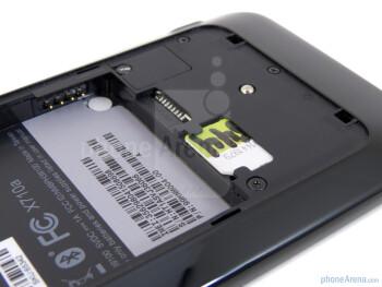 SIM and microSD card slots - HTC Vivid Review