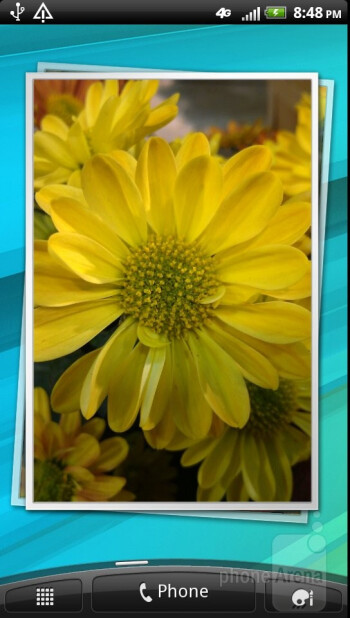 The interface of the HTC Vivid - HTC Vivid Review
