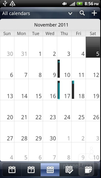 Calendar - Core organizer apps - HTC Vivid Review