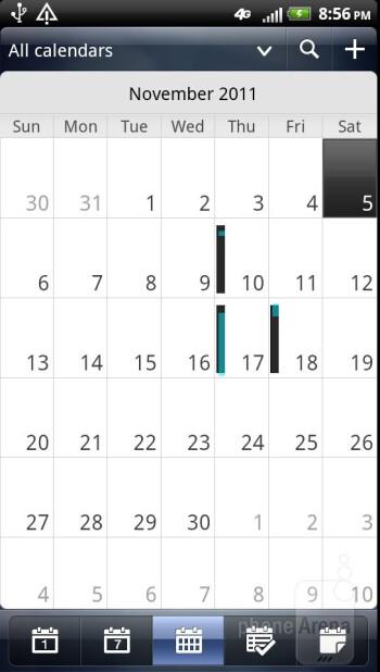 Calendar - Core organizer apps - HTC Vivid Review