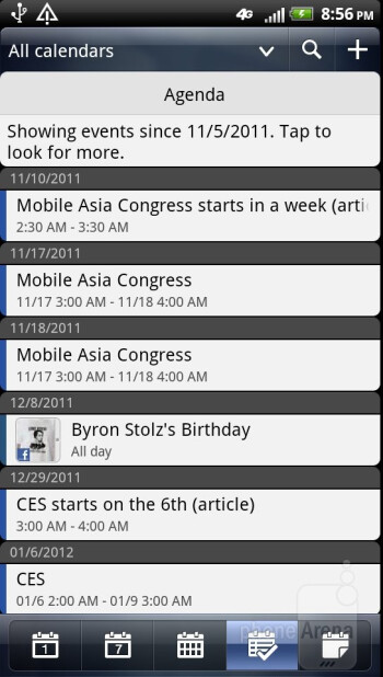 Core organizer apps - HTC Vivid Review