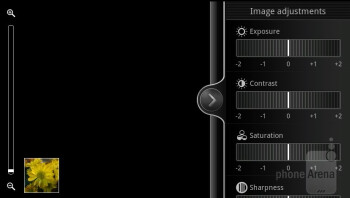 Camera interface - HTC Vivid Review