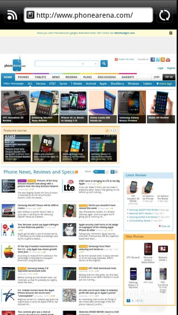 Surfing the web with the HTC Vivid - HTC Vivid Review