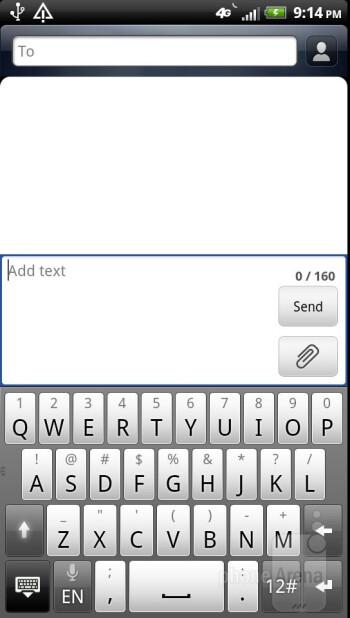 The Sense keyboard - HTC Vivid Review