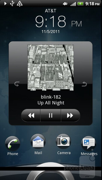 The Sense music player found on the HTC Vivid - HTC Vivid vs Samsung Galaxy S II Skyrocket