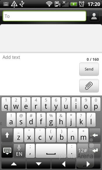 Virtual keyboard of the HTC Sensation XL - HTC Sensation XL Review