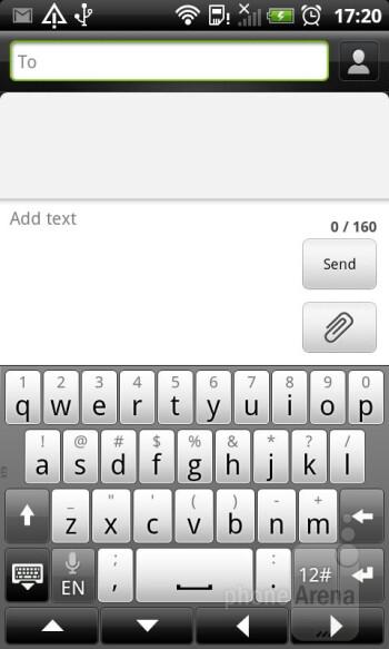 Virtual keyboard of the HTC Sensation XL - HTC Sensation XL Review