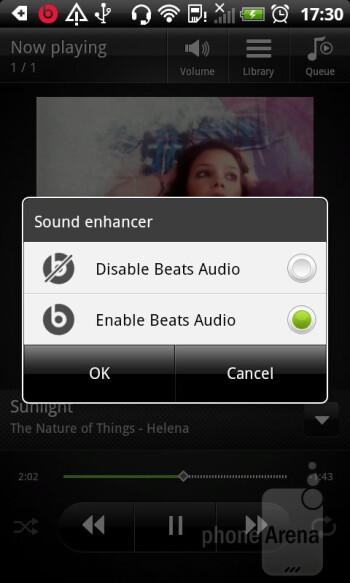 The Music app has a new, more streamlined interface - HTC Sensation XL Review