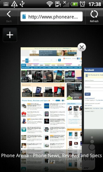Browsing the web - HTC Sensation XL Review