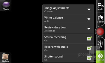 Camera interface - HTC Sensation XL Review