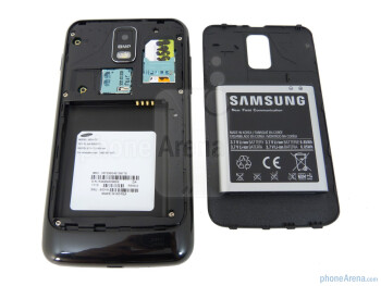 Battery compartment - Samsung Galaxy S II Skyrocket Review