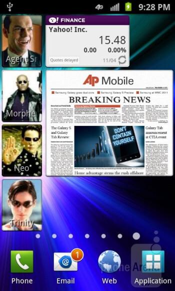 The Samsung Galaxy S II Skyrocket has TouchWiz user interface - Samsung Galaxy S II Skyrocket Review