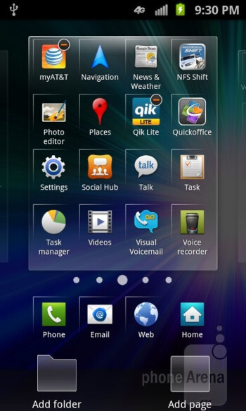 The Samsung Galaxy S II Skyrocket has TouchWiz user interface - Samsung Galaxy S II Skyrocket Review