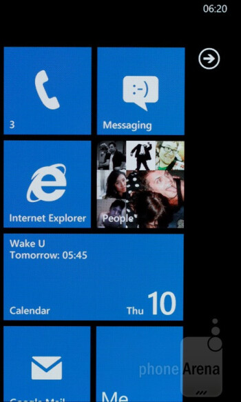 Homescreen - Nokia Lumia 800 Review