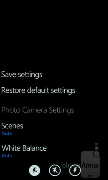 Camera interface - Nokia Lumia 800 Review