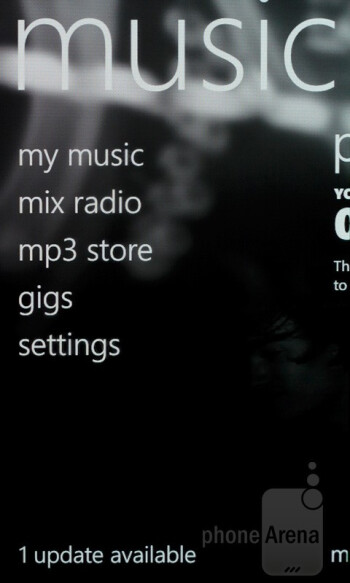 Music - Nokia Lumia 800 Review