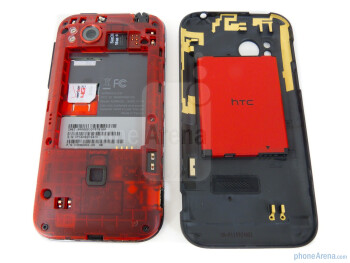 The microSD and SIM slots are behind the battery cover - HTC Rezound Review