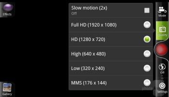 The  camera app of HTC Rezound - Motorola DROID RAZR vs HTC Rezound