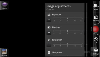 The  camera app of the HTC Rezound - Verizon Galaxy Nexus vs HTC Rezound