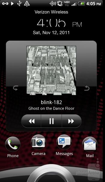 The music player of HTC Rezound contains the Beats Audio feature - Motorola DROID RAZR vs HTC Rezound