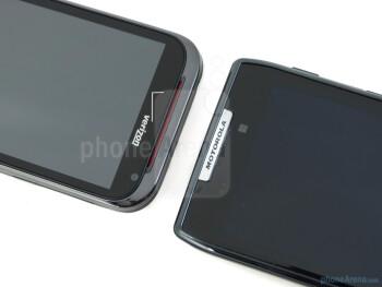 Front-facing cameras - Motorola DROID RAZR (right) and HTC Rezound (left) - Motorola DROID RAZR vs HTC Rezound