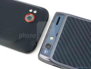 Rear cameras - Motorola DROID RAZR (right) and HTC Rezound (left) - Motorola DROID RAZR vs HTC Rezound
