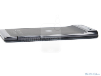 microSIM card slot and microSD card slot (left) - The sides of the Motorola RAZR - Motorola RAZR Review