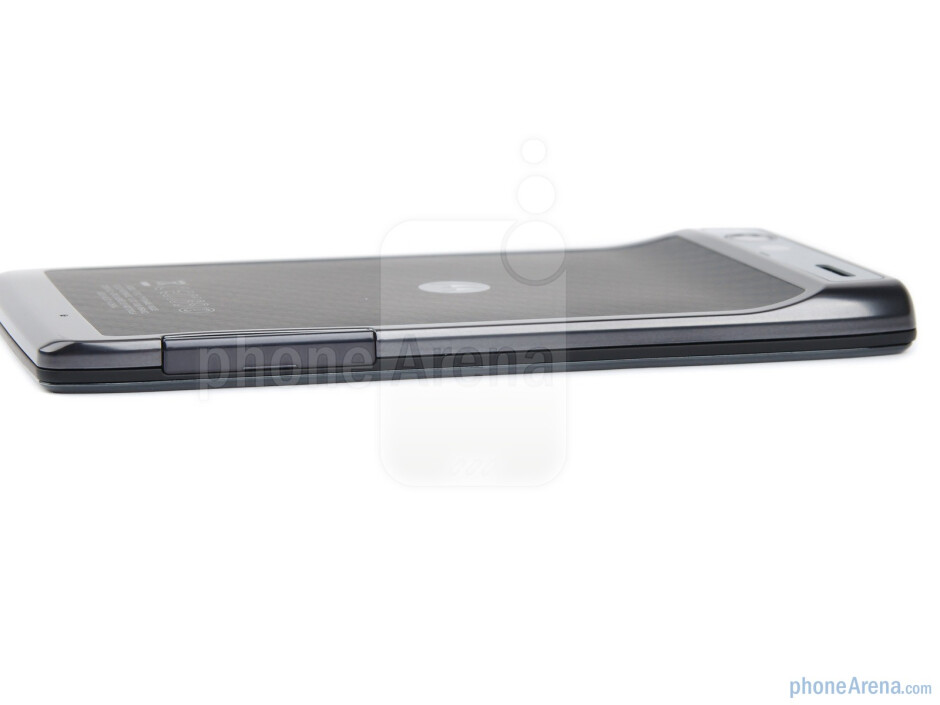 microSIM card slot and microSD card slot (left) - The sides of the Motorola RAZR - Motorola RAZR Review