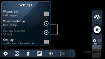 The camera interface - Motorola RAZR Review