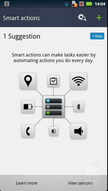 The Smart Actions app on the Motorola DROID RAZR - Motorola DROID RAZR vs Samsung Galaxy S II
