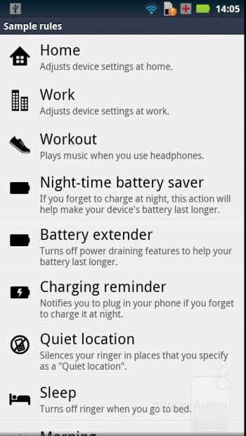 Motorola has managed to plant some of its presence in the included applications - Motorola RAZR Review