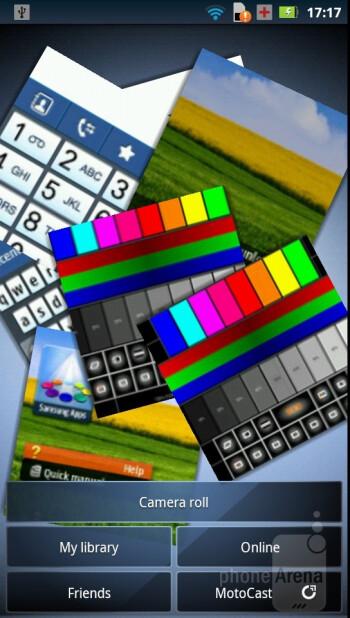 The Gallery app as found on the Motorola RAZR - Motorola RAZR Review