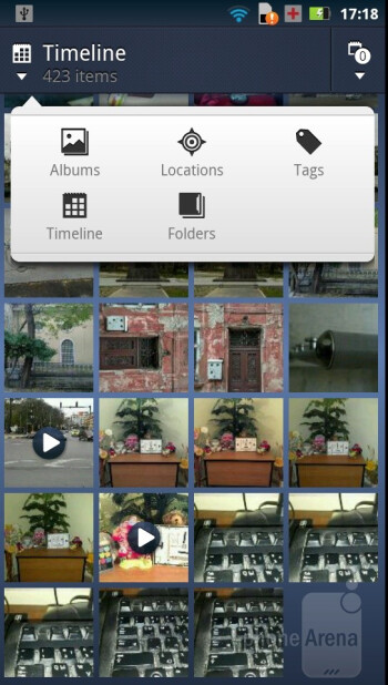 The Gallery app as found on the Motorola DROID RAZR - Motorola DROID RAZR vs Samsung Galaxy S II