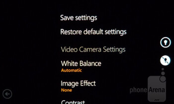 Camera interface - Samsung Focus Flash Review