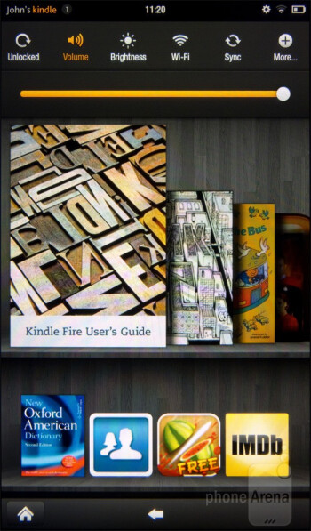 The interface of the Amazon Kindle Fire - Amazon Kindle Fire vs NOOK Tablet