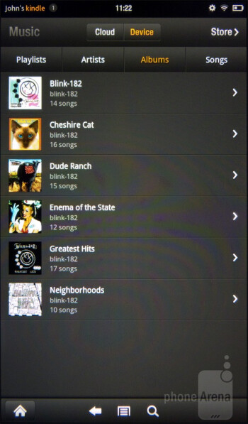 Music player of the Amazon Kindle Fire - Amazon Kindle Fire vs NOOK Tablet