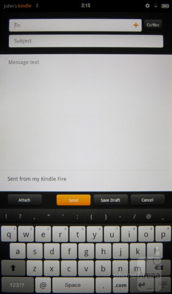 Amazon Kindle Fire - On-screen keyboards - Amazon Kindle Fire vs NOOK Tablet