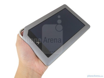 The Nook Tablet is very comfortable and easy to hold with one hand - Barnes & Noble NOOK Tablet Review