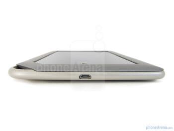 microUSB port (bottom edge) - Volume rocker on the right edge - Barnes & Noble NOOK Tablet Review