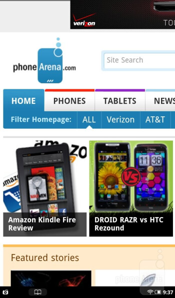 The web browsing experience on the Nook Tablet - Amazon Kindle Fire vs NOOK Tablet