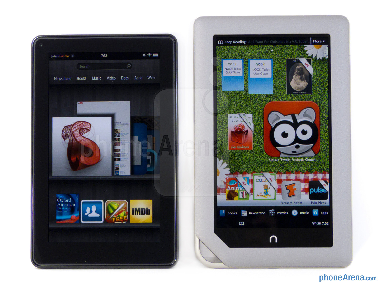 Amazon Kindle Fire Vs Nook Tablet Performance And