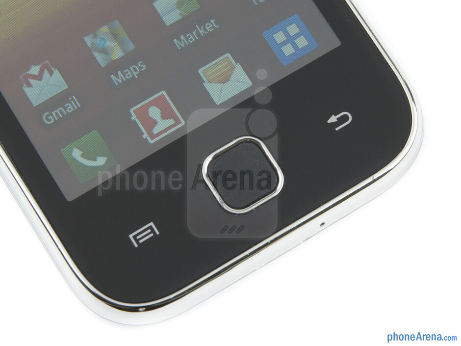 Buttons below the display - Samsung Galaxy Y Review